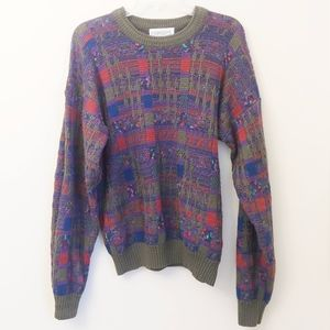Vintage Oversized Chunky Knit Pullover Sweater